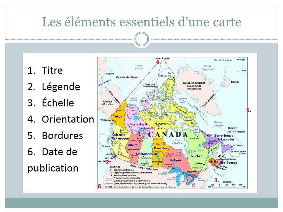 Les éléments essentiels d'une carte