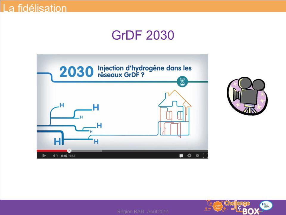 GrDF 2030 La fidélisation 11 Région RAB - Août 2014