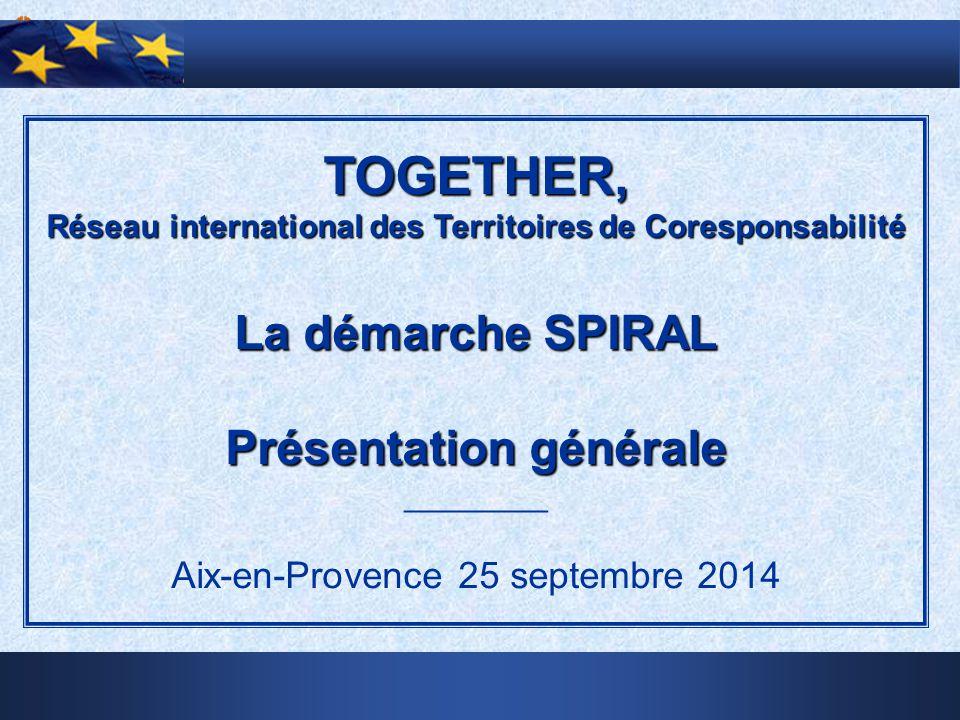 TOGETHER, Réseau international des Territoires de Coresponsabilité La démarche SPIRAL Présentation générale ________ Aix-en-Provence 25 septembre 2014