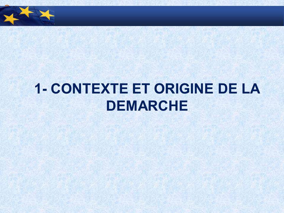 1- CONTEXTE ET ORIGINE DE LA DEMARCHE