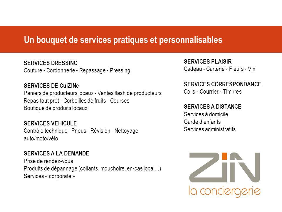 Un bouquet de services pratiques et personnalisables SERVICES PLAISIR Cadeau - Carterie - Fleurs - Vin SERVICES CORRESPONDANCE Colis - Courrier - Timb