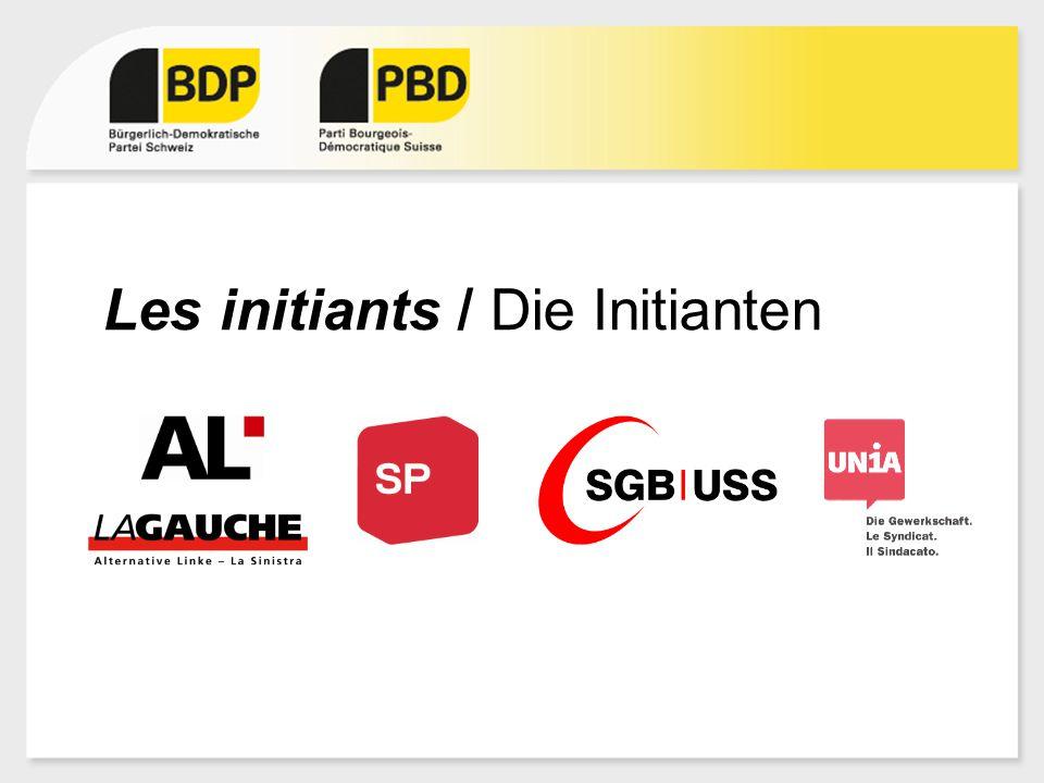 Les initiants / Die Initianten