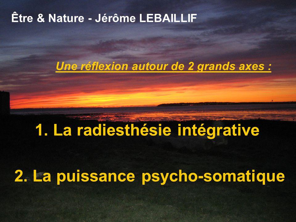 Être & Nature - Jérôme LEBAILLIF Une réflexion autour de 2 grands axes : 1.