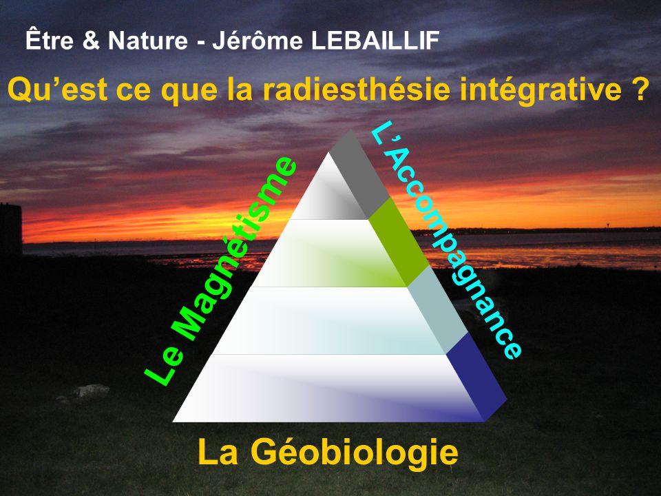 Être & Nature - Jérôme LEBAILLIF Une réflexion autour de 2 grands axes : 1. La radiesthésie intégrative 2. La puissance psycho-somatique