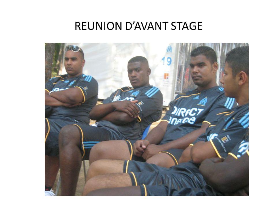 REUNION D'AVANT STAGE