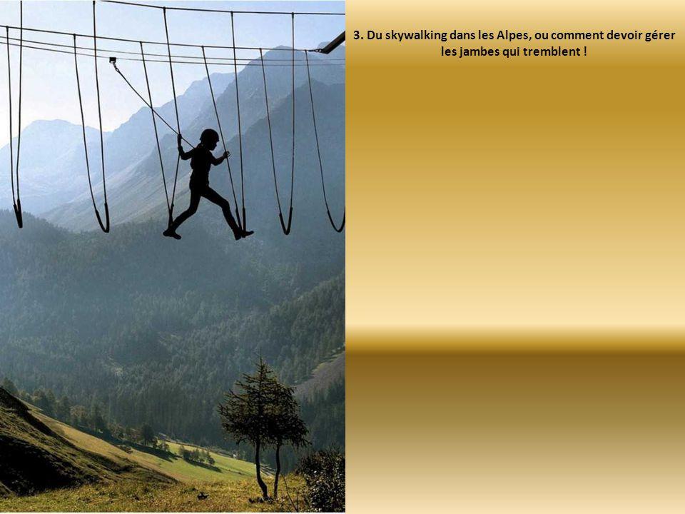 3. Du skywalking dans les Alpes, ou comment devoir gérer les jambes qui tremblent !