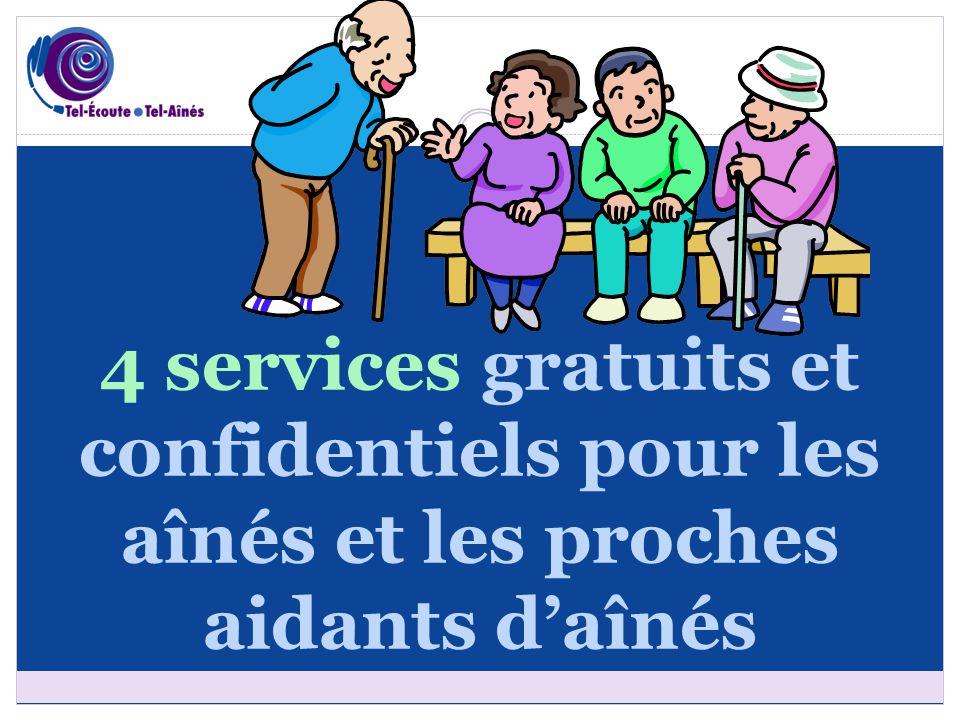 4 services gratuits et confidentiels pour les aînés et les proches aidants d'aînés