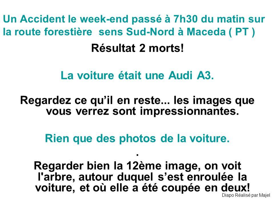 Un Accident le week-end passé à 7h30 du matin sur la route forestière sens Sud-Nord à Maceda ( PT ) Résultat 2 morts.