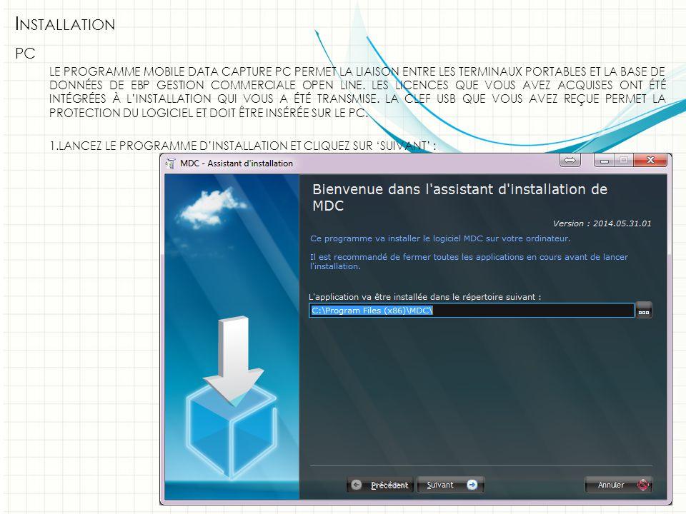 I NSTALLATION PC 2.C LIQUEZ SUR 'I NSTALLER ' :