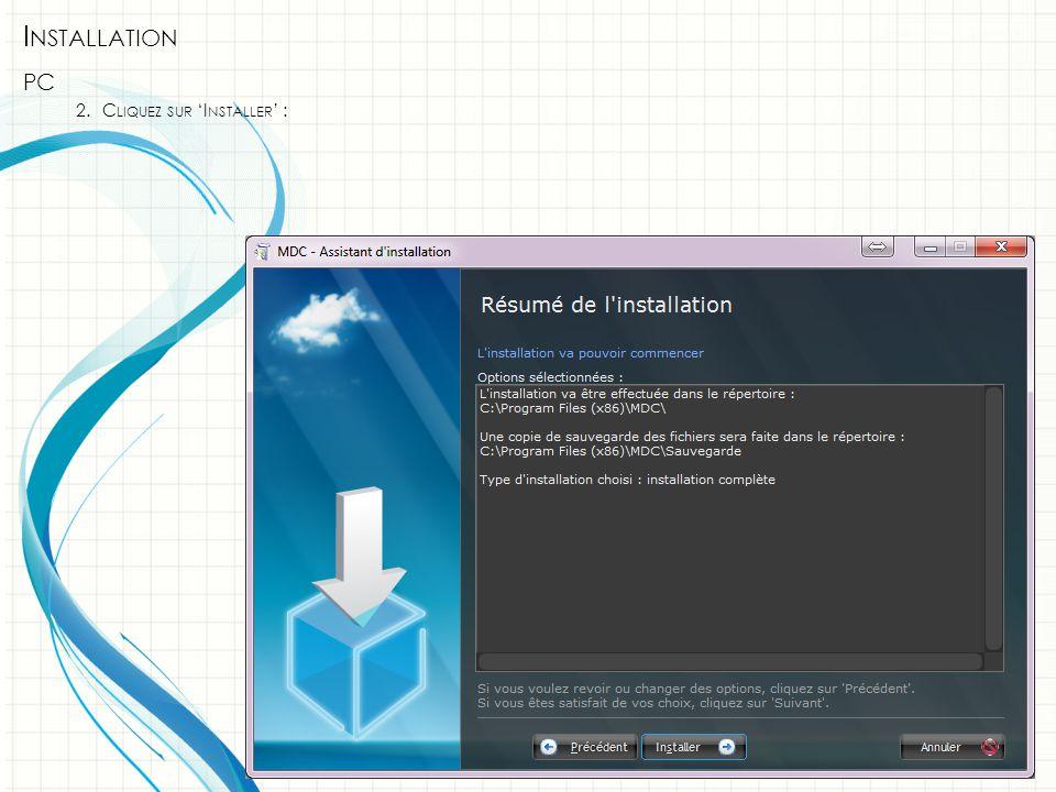 I NSTALLATION PC 3.C LIQUEZ SUR ' TERMINER ' :