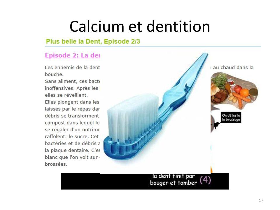 Calcium et dentition 17
