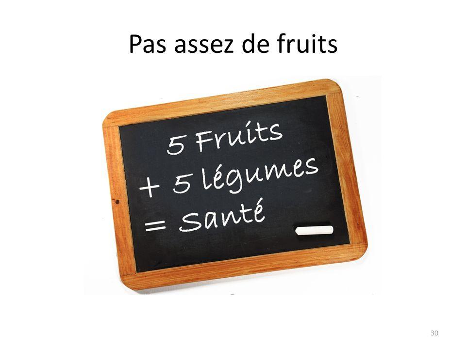 Pas assez de fruits 30