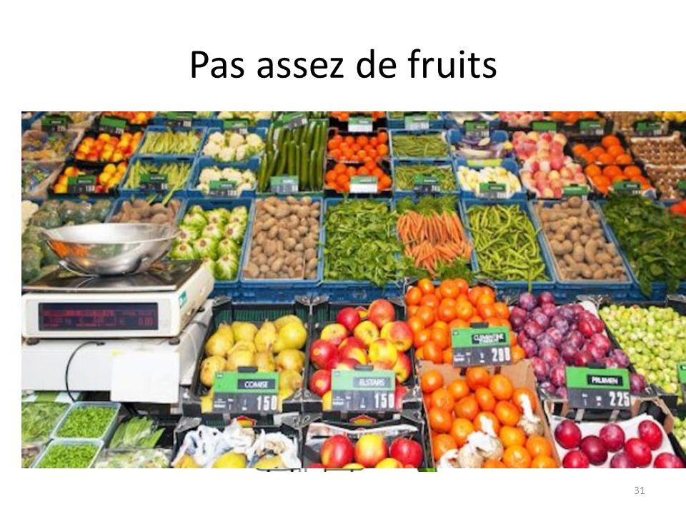 Pas assez de fruits 31