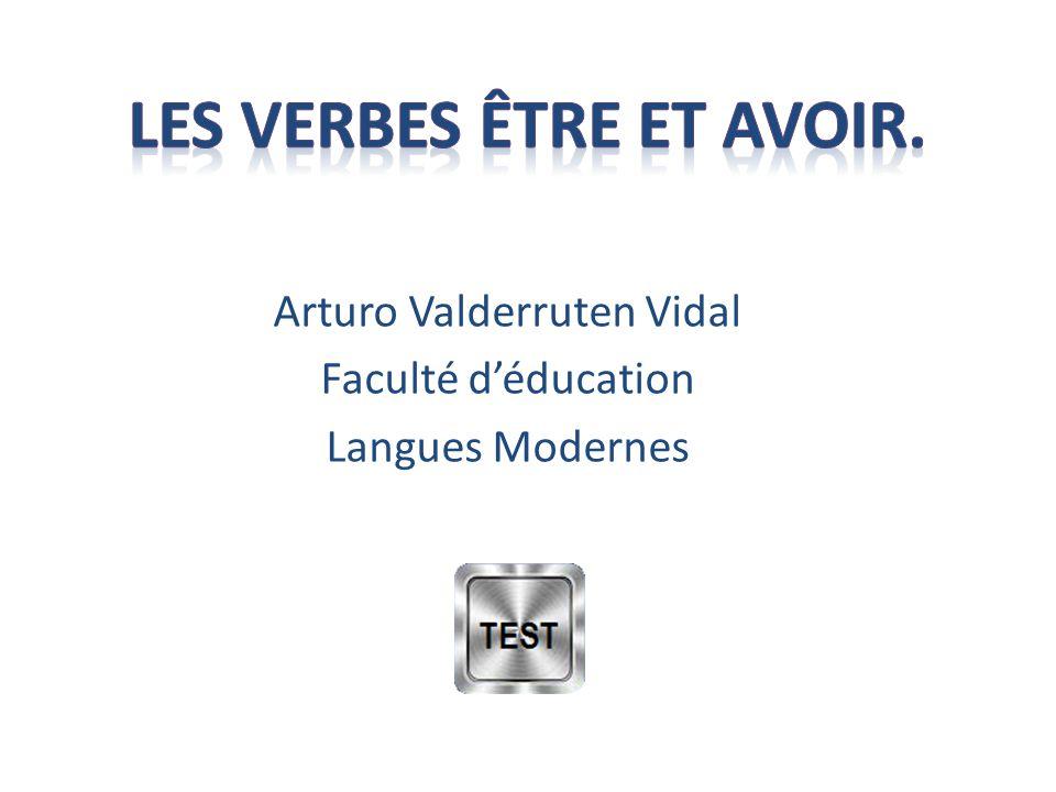 Arturo Valderruten Vidal Faculté d'éducation Langues Modernes