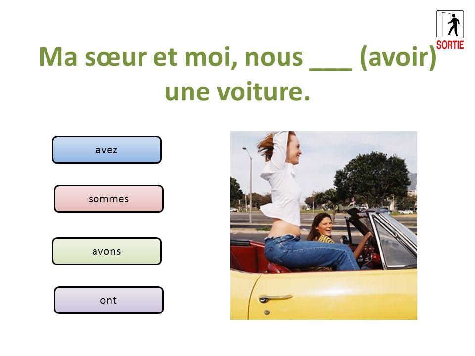 Moi, je ___ (être) française.Et toi, tu ___ (être) colombien.