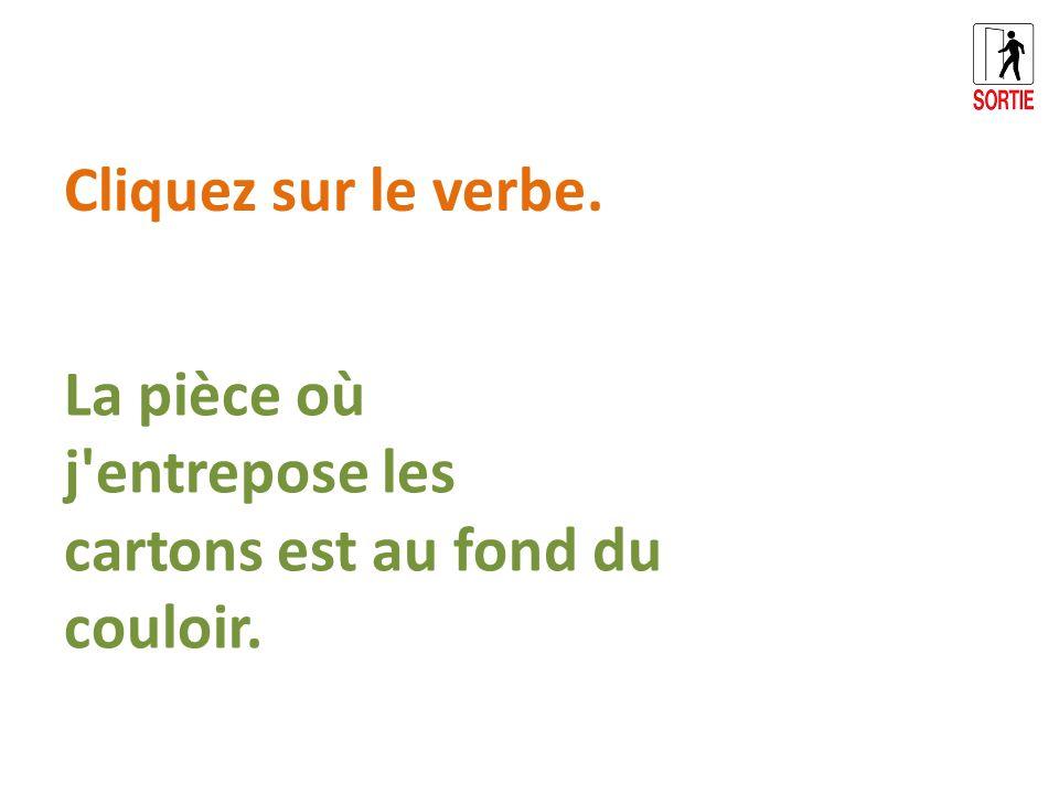 Les pinceaux que nous utilisons sont très abimés. Cliquez sur le verbe.