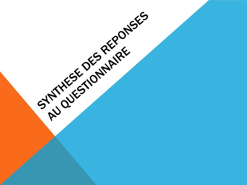 SYNTHESE DES REPONSES AU QUESTIONNAIRE