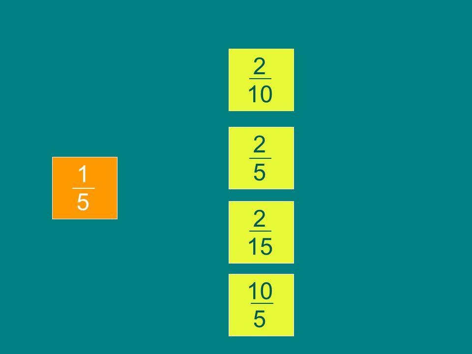 Trouver la fraction identique à celle qui est proposée