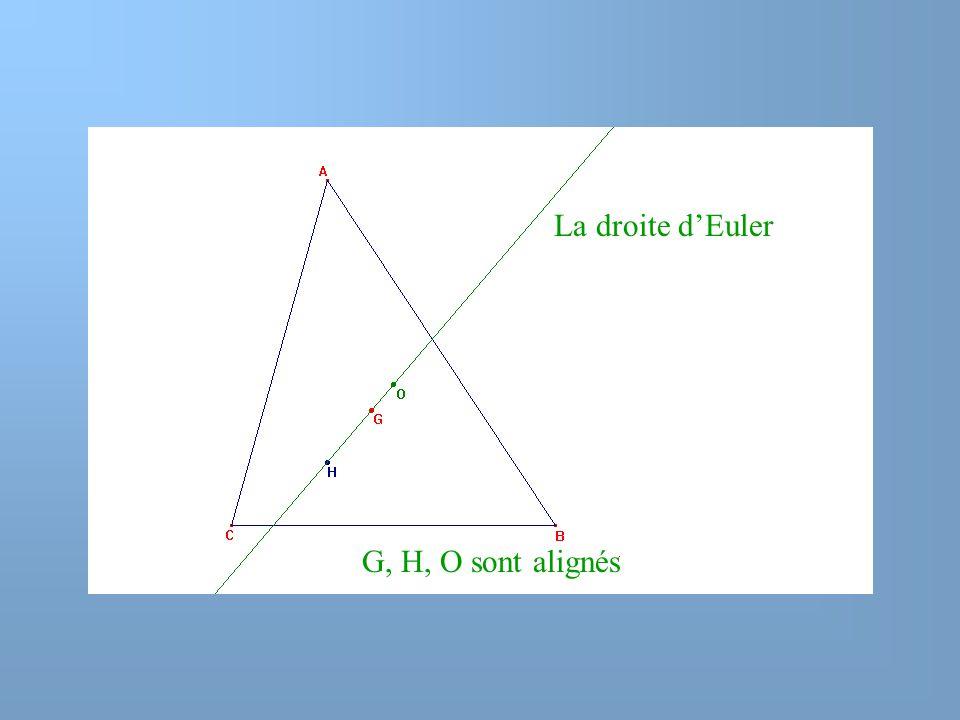 La droite d'Euler G, H, O sont alignés