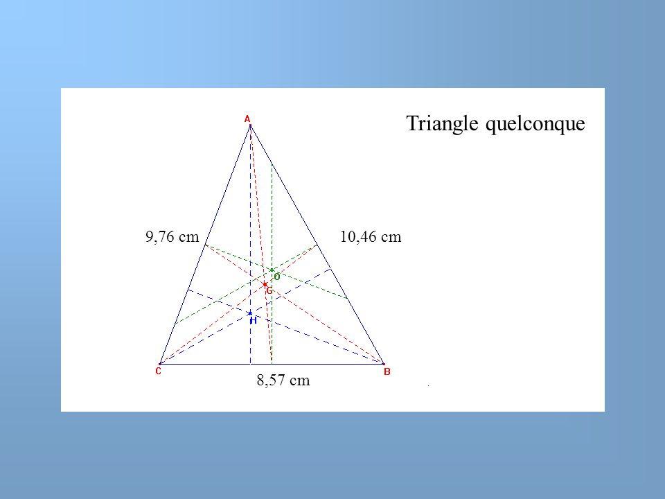 9,76 cm10,46 cm Triangle quelconque 8,57 cm