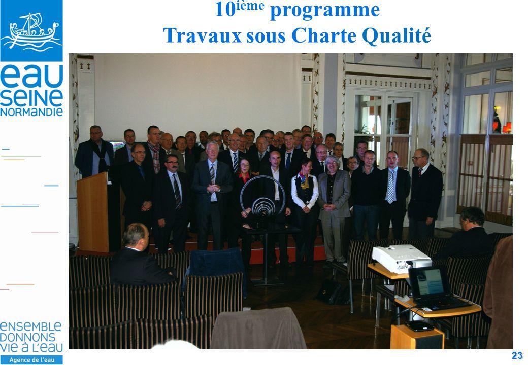 23 10 ième programme Travaux sous Charte Qualité