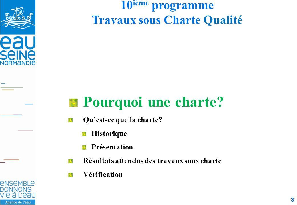 3 10 ième programme Travaux sous Charte Qualité Pourquoi une charte.