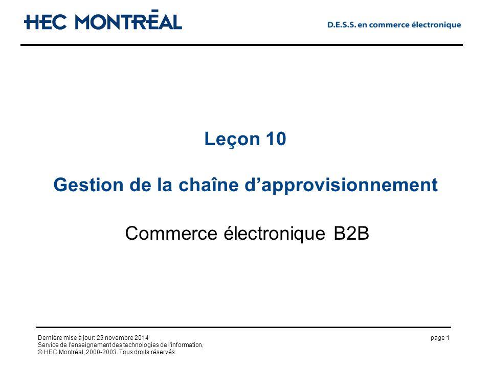 page 1Dernière mise à jour: 23 novembre 2014 Service de l enseignement des technologies de l information, © HEC Montréal, 2000-2003.