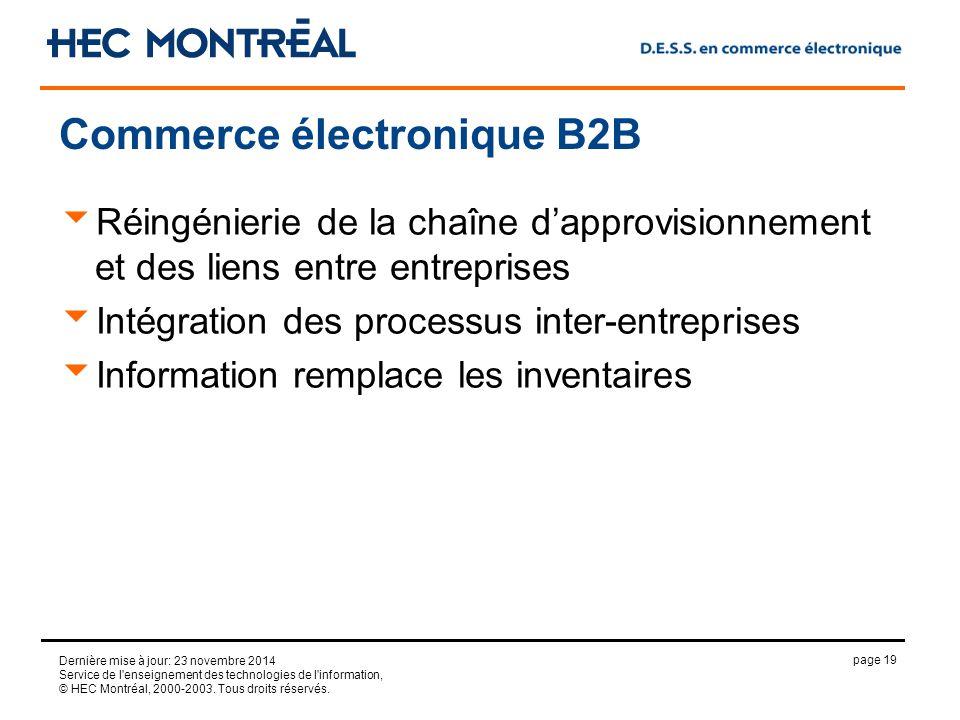 page 19 Dernière mise à jour: 23 novembre 2014 Service de l enseignement des technologies de l information, © HEC Montréal, 2000-2003.
