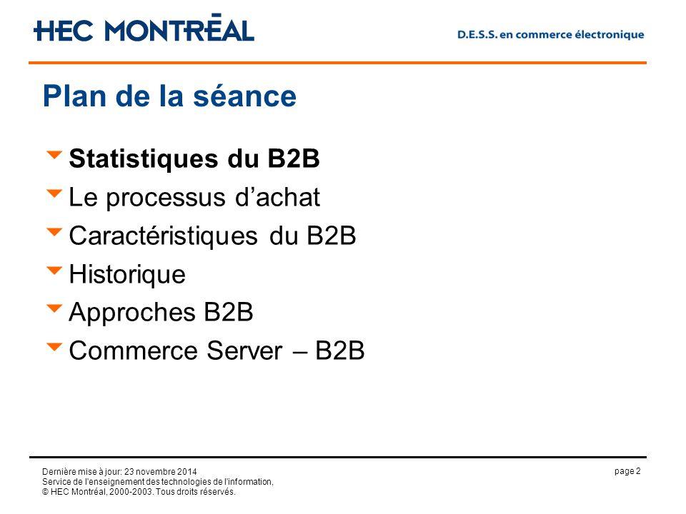 page 2 Dernière mise à jour: 23 novembre 2014 Service de l enseignement des technologies de l information, © HEC Montréal, 2000-2003.