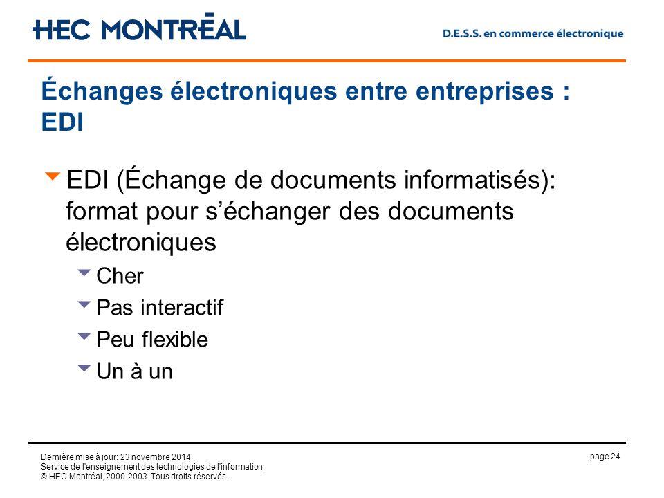 page 24 Dernière mise à jour: 23 novembre 2014 Service de l enseignement des technologies de l information, © HEC Montréal, 2000-2003.