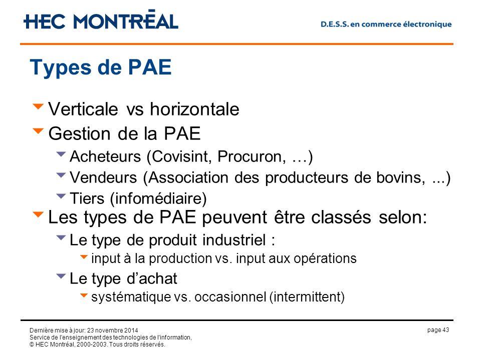 page 43 Dernière mise à jour: 23 novembre 2014 Service de l enseignement des technologies de l information, © HEC Montréal, 2000-2003.