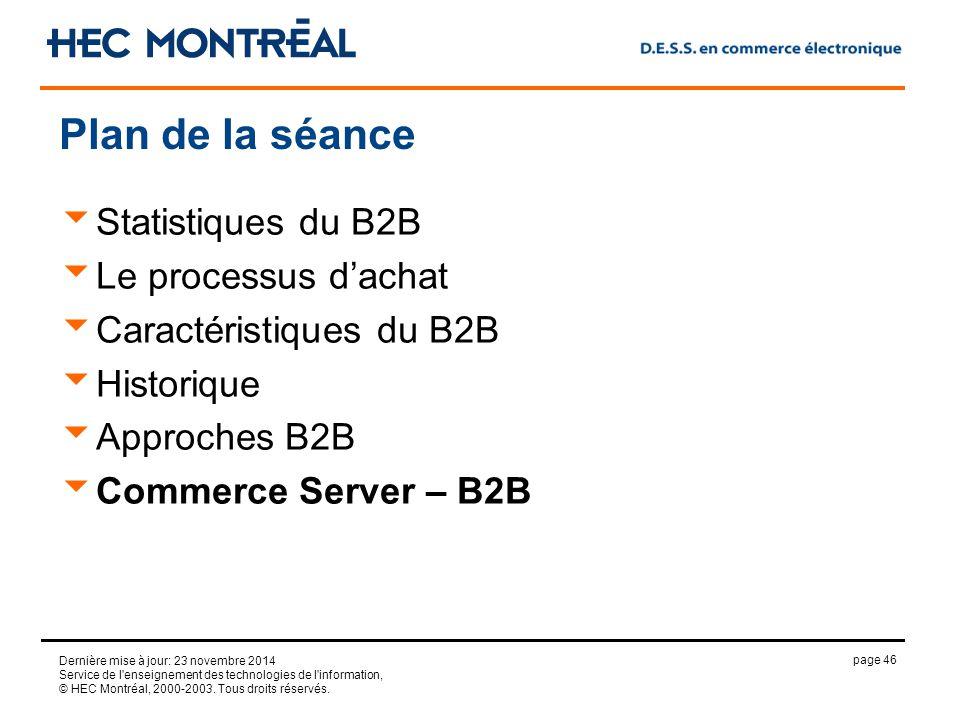 page 46 Dernière mise à jour: 23 novembre 2014 Service de l enseignement des technologies de l information, © HEC Montréal, 2000-2003.