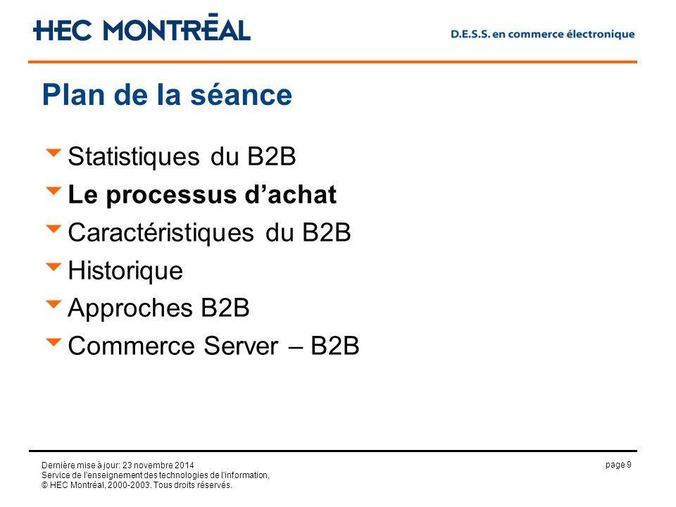 page 9 Dernière mise à jour: 23 novembre 2014 Service de l enseignement des technologies de l information, © HEC Montréal, 2000-2003.