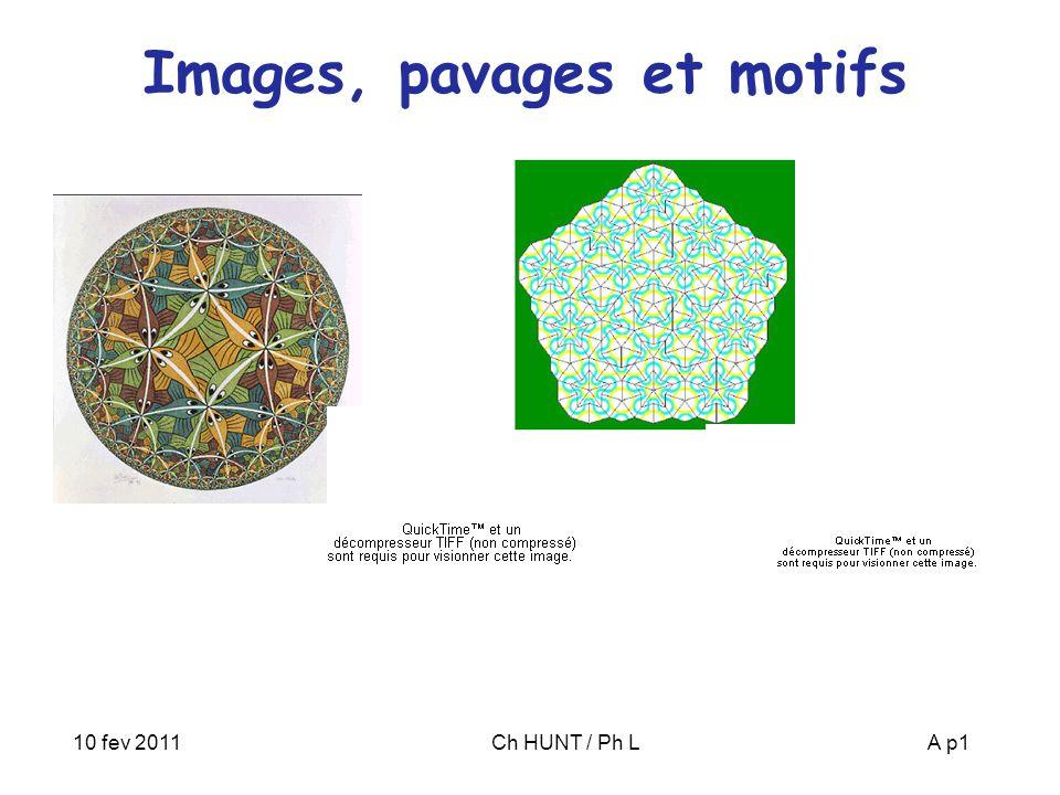 10 fev 2011Ch HUNT / Ph LA p1 Images, pavages et motifs