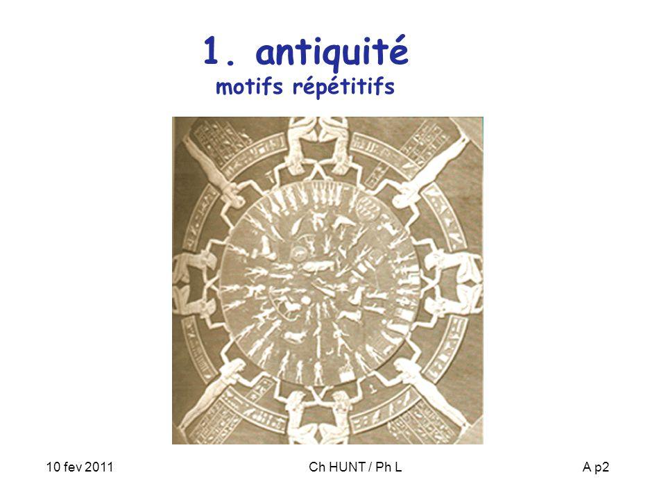 10 fev 2011Ch HUNT / Ph LA p2 1. antiquité motifs répétitifs