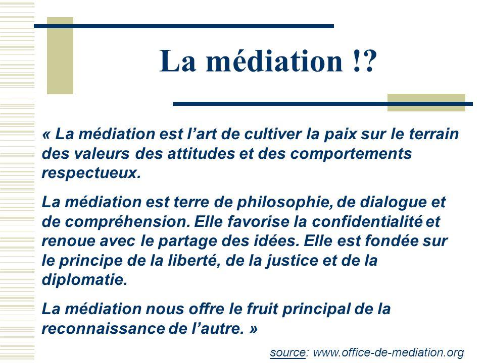 La médiation !.