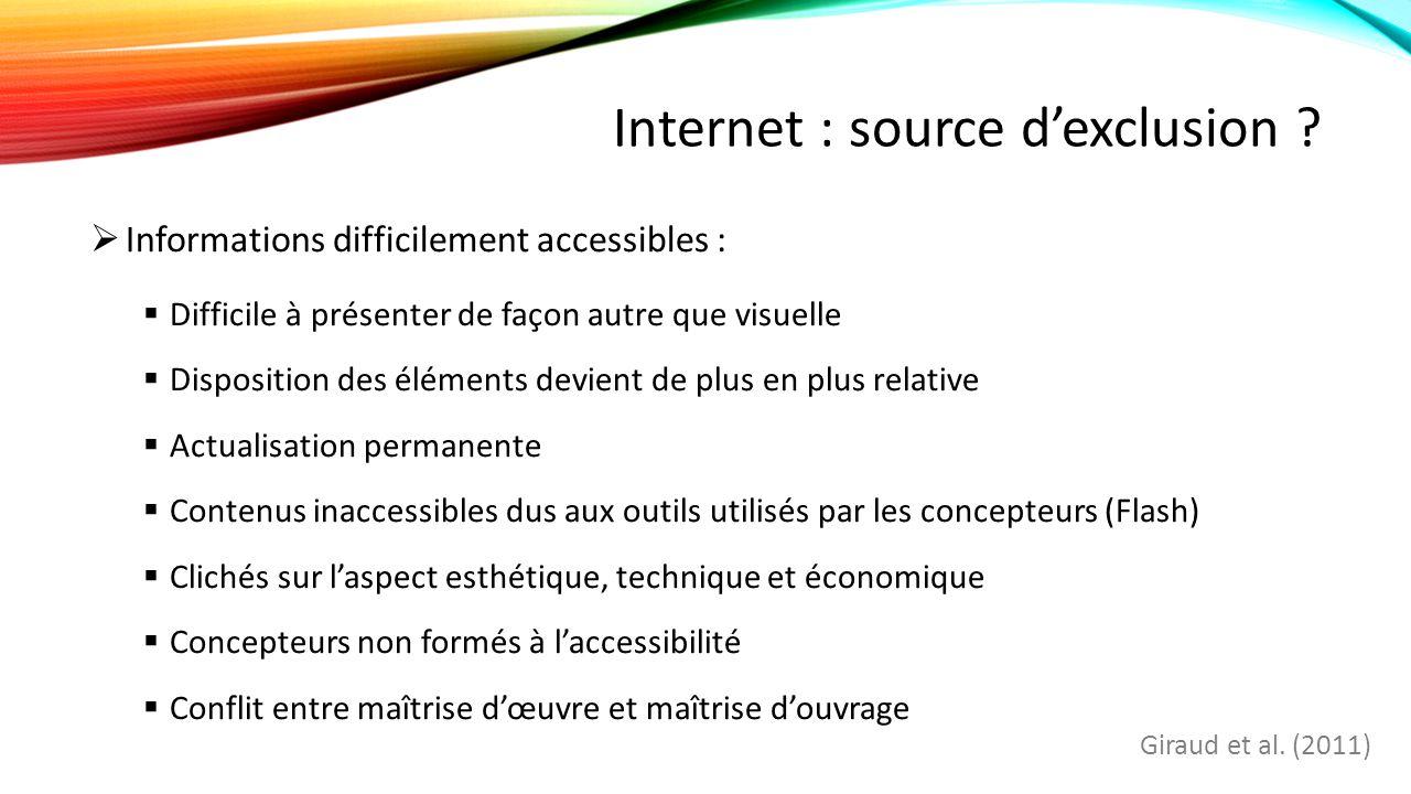 Internet : source d'exclusion .