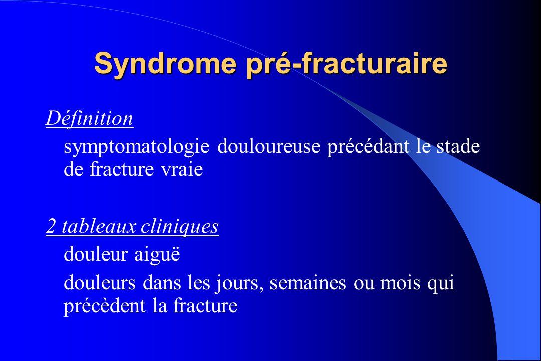 FESFOstéoporose Chute Fracture par Insuffisance Osseuse 90% Syndrome pré- fracturaire.