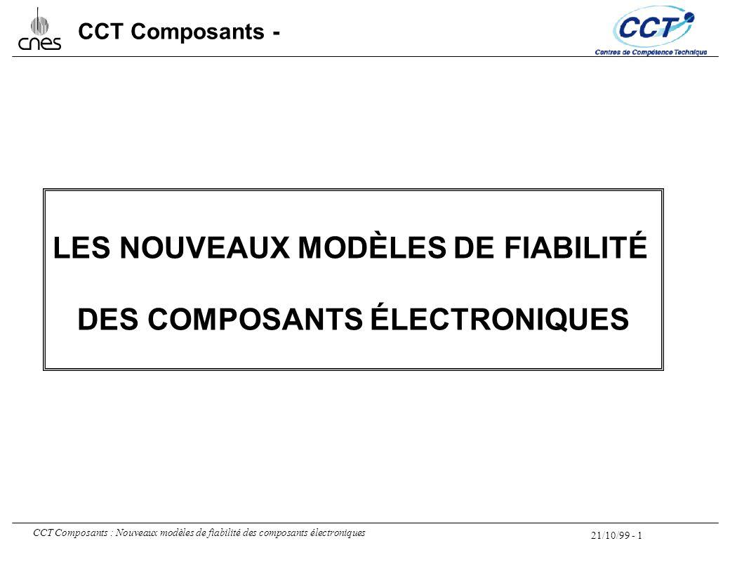 21/10/99 - 1 CCT Composants : Nouveaux modèles de fiabilité des composants électroniques CCT Composants - LES NOUVEAUX MODÈLES DE FIABILITÉ DES COMPOS
