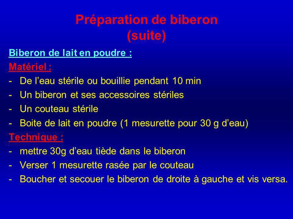 Préparation de biberon D'abord il faut bien nettoyer et stériliser le biberon.