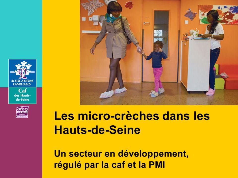 Les micro-crèches dans les Hauts-de-Seine Un secteur en développement, régulé par la caf et la PMI