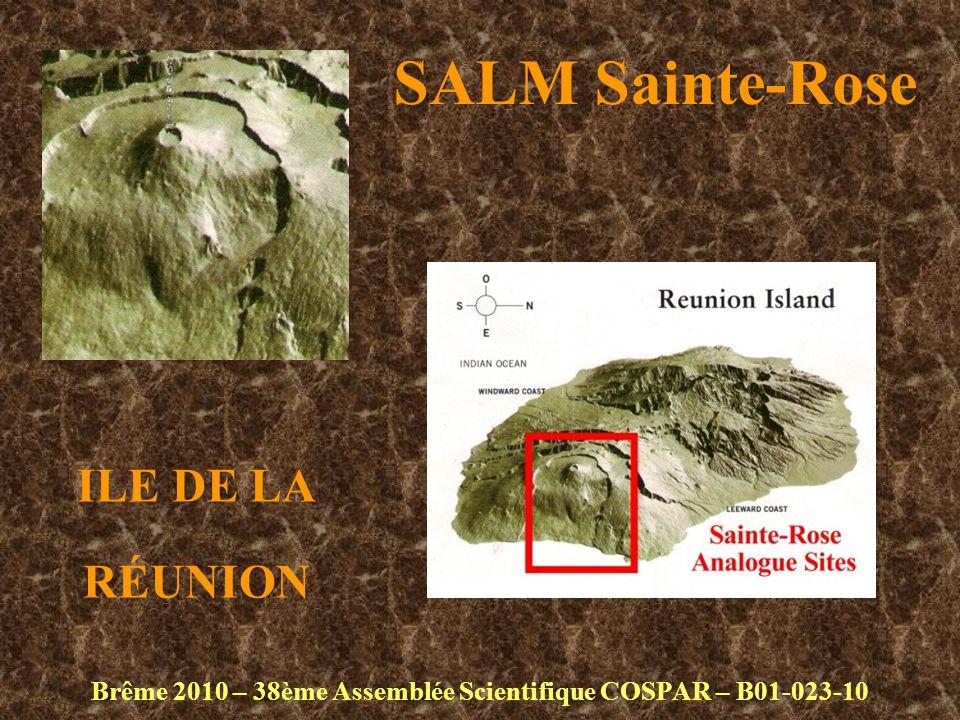 SALM Sainte-Rose Brême 2010 – 38ème Assemblée Scientifique COSPAR – B01-023-10 ILE DE LA RÉUNION