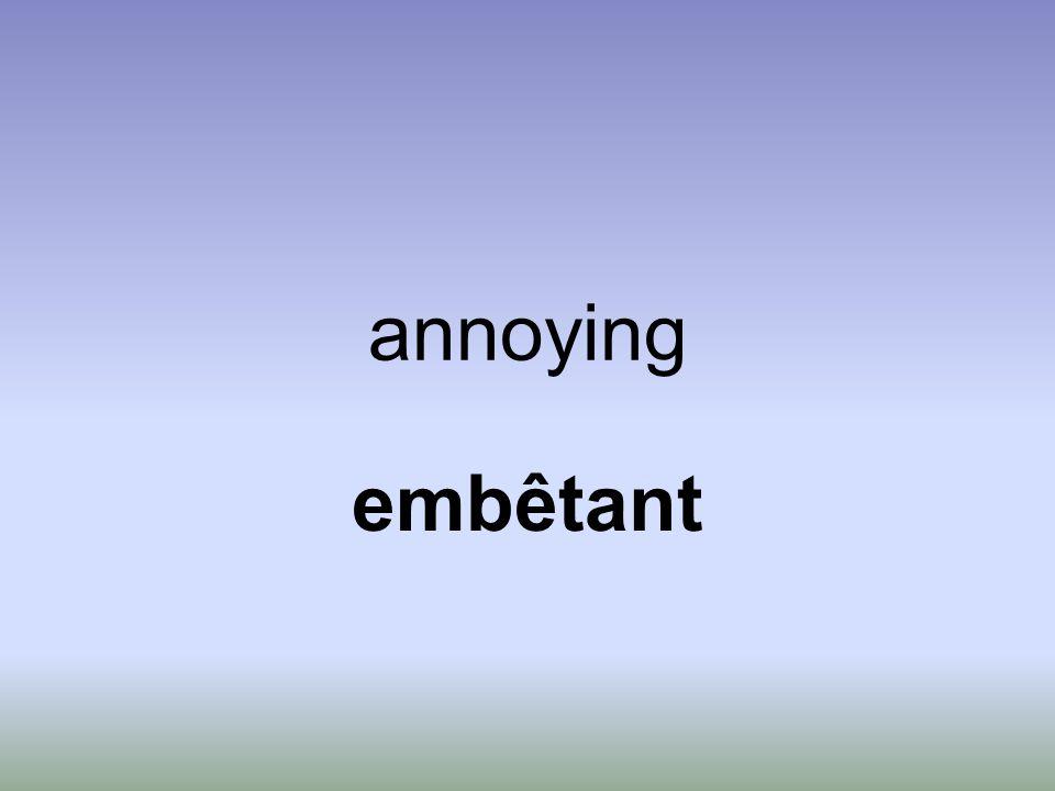 annoying embêtant