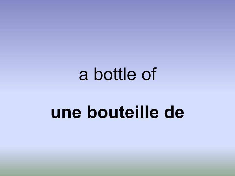 a bottle of une bouteille de