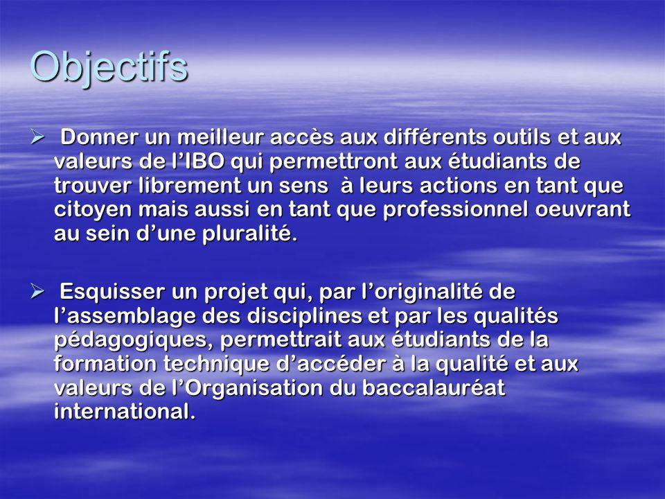 Reconnaissances  Diplôme d'études collégiales (DEC) dans la technique appropriée avec la mention « cheminement Baccalauréat international.