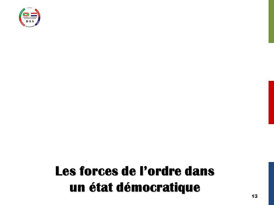13 Les forces de l'ordre dans un état démocratique 13
