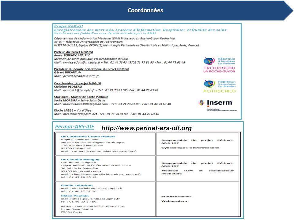 14 Coordonnées Perinat-ARS-IDF http://www.perinat-ars-idf.org
