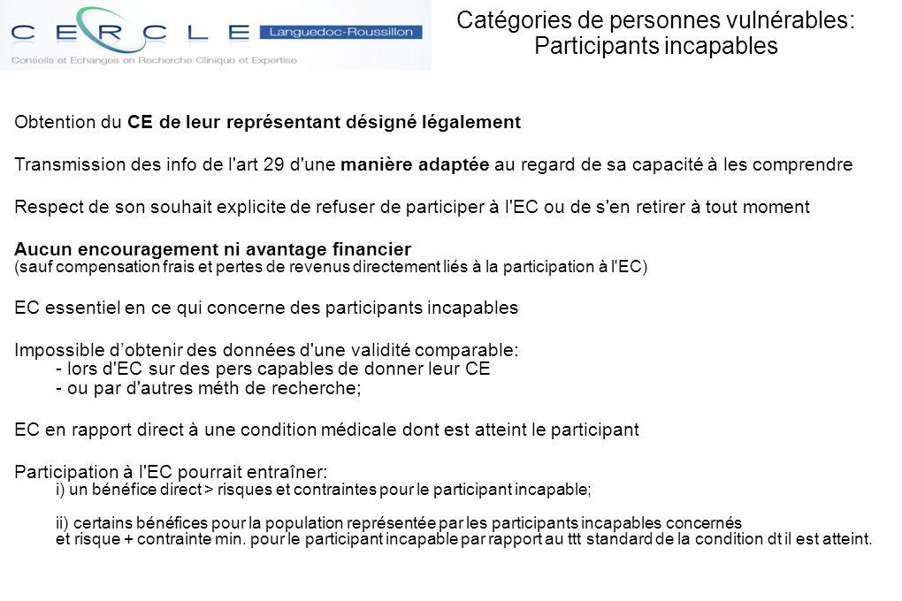 Obtention du CE de leur représentant désigné légalement Transmission des info de l'art 29 d'une manière adaptée au regard de sa capacité à les compren