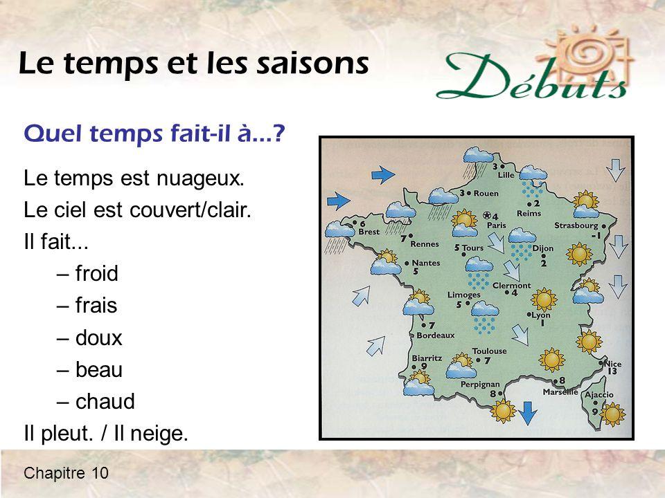 Les quatre saisons de Paris En hiver, quel temps fait-il.