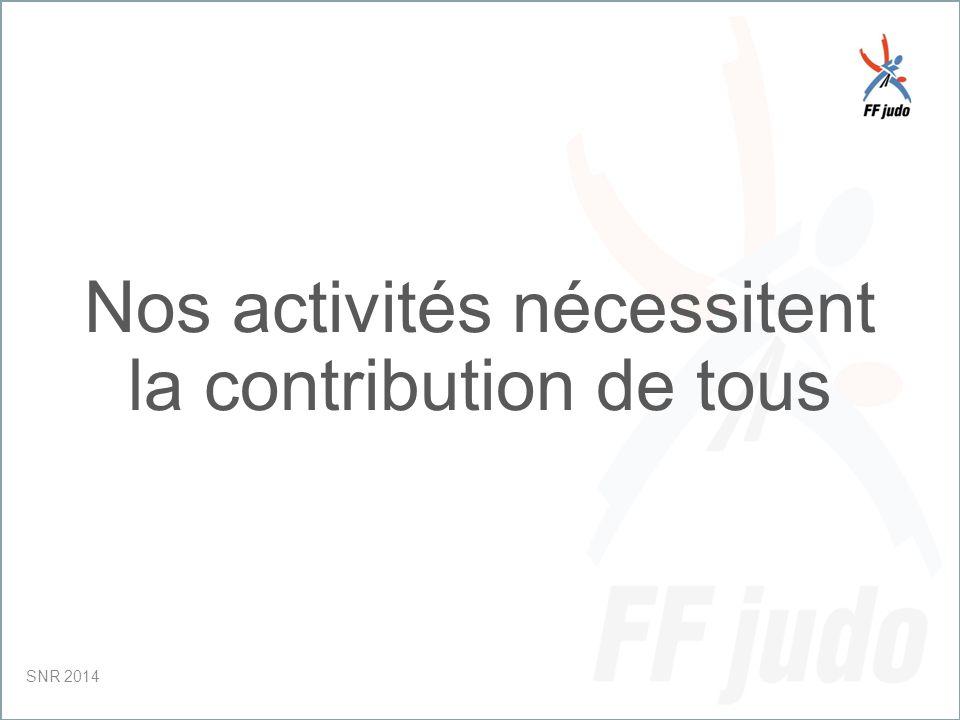 CD – 19-juin-10 Nos activités nécessitent la contribution de tous SNR 2014